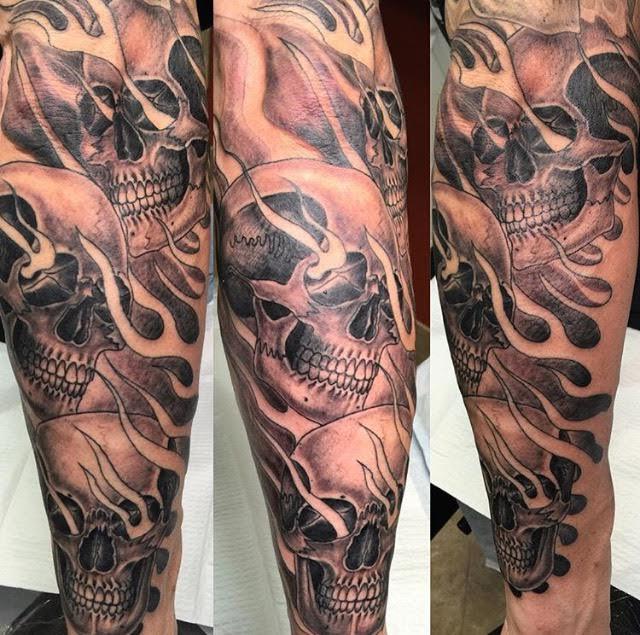 skull sleeve tattoos ...