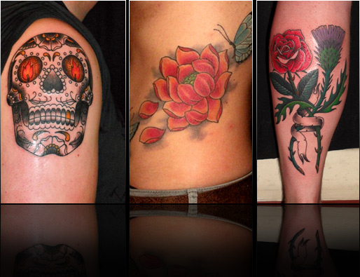 andrea furci skull rose peony tattoo design