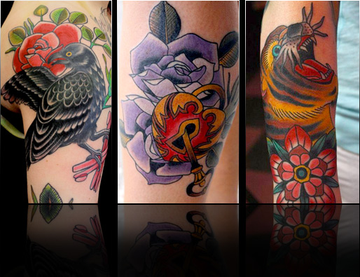 chris marchetto rose animal pin up tattoo designs