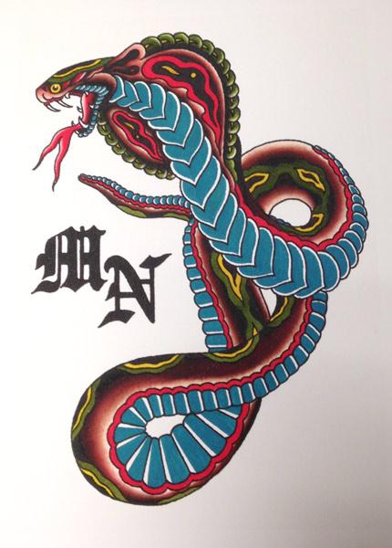 Gallery For > Traditional Cobra Tattoo Flash Da Vinci Symbols